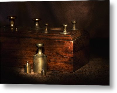 Scale Weights Still Life I Metal Print by Tom Mc Nemar