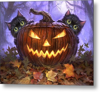 Scaredy Cats Metal Print by Jeff Haynie