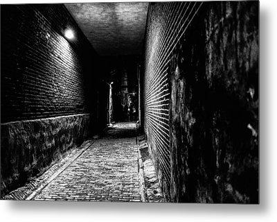 Scary Dark Alley Metal Print by Louis Dallara