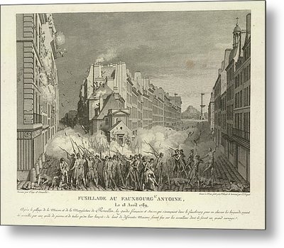 Scene From The French Revolution Metal Print by British Library