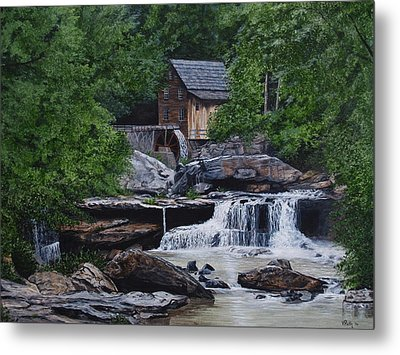 Scenic Grist Mill Metal Print by Vicky Path