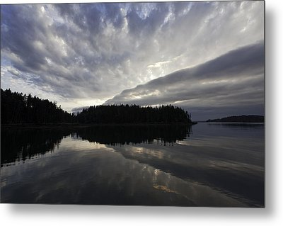 Scenic Maine Roque Island Archipelago Reflections Metal Print by Susan  Degginger