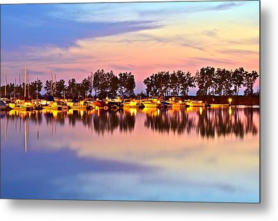 Scenic Sunset Metal Print by Frozen in Time Fine Art Photography