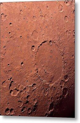 Schiaparelli Crater Metal Print by Detlev Van Ravenswaay