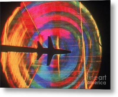 Schlieren Image Of Aircraft Metal Print by Garry Settles