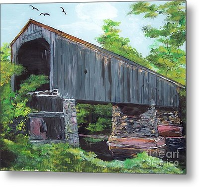 Schofield Covered Bridge Metal Print by Lucia Grilletto