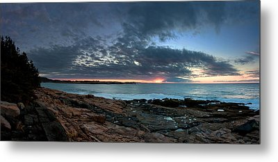 Schoodic Point Sunrise 7218 Metal Print by Brent L Ander