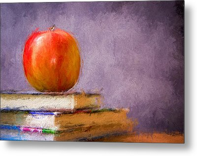 School Apple Metal Print by Georgiana Romanovna