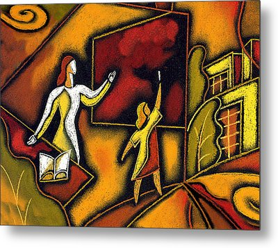 School Metal Print by Leon Zernitsky