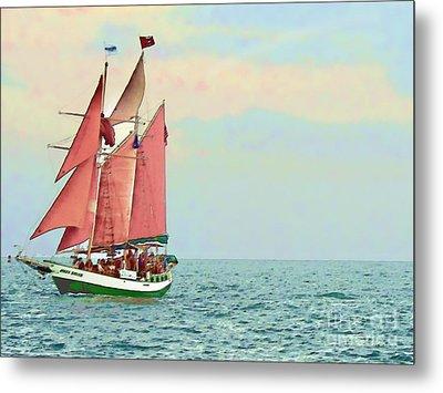 Schooner Jolly Rover Key West Metal Print by Joan  Minchak