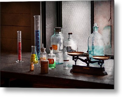 Science - Chemist - Chemistry Equipment  Metal Print by Mike Savad
