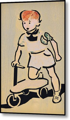 Scooter Girl Metal Print by Tony Grider