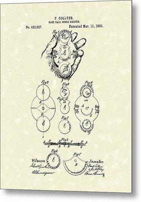 Score Keeper 1890 Patent Art Metal Print by Prior Art Design