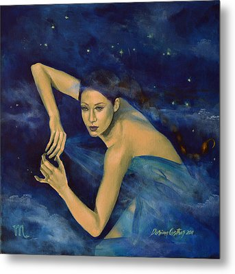 Scorpio From Zodiac Series Metal Print by Dorina  Costras