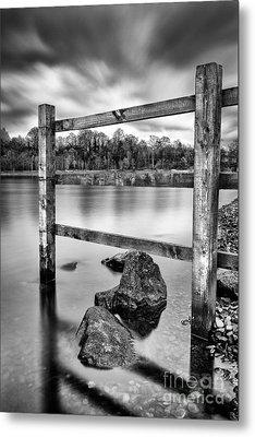 Scottish Loch With Fence Metal Print by John Farnan