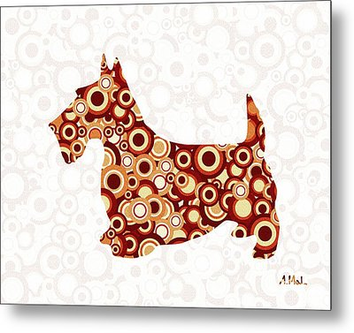 Scottish Terrier - Animal Art Metal Print by Anastasiya Malakhova