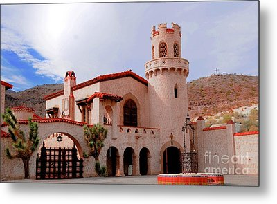 Scotty's Castle Metal Print by Kathleen Struckle