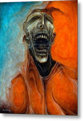 Scream Till No One Hears You Metal Print by Robert Anderson