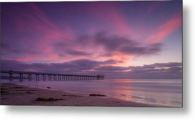Scripps Pier Colors Metal Print by Peter Tellone