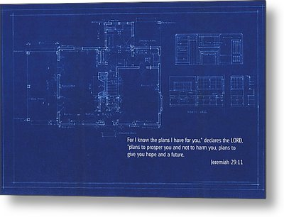 Scripture And Picture Jeremiah 29 11 Metal Print by Ken Smith