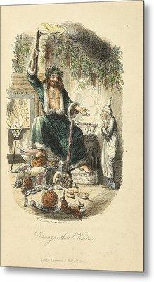 Scrooges Third Visitor Metal Print by Philip Ralley