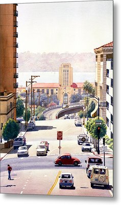 Sd County Administration Building Metal Print by Mary Helmreich