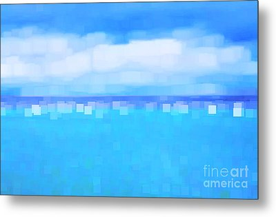 Sea And Sky Abstract Metal Print by Natalie Kinnear