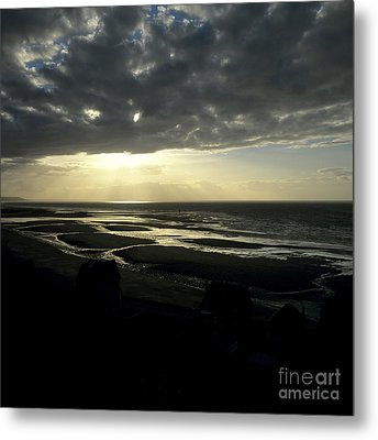 Sea And Stormy Sky Metal Print by Bernard Jaubert