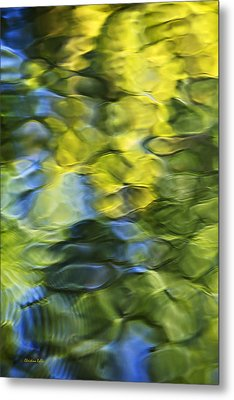 Sea Breeze Mosaic Abstract Art Metal Print by Christina Rollo