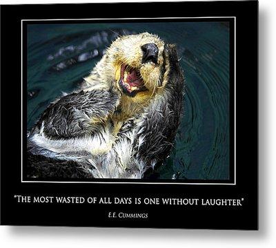 Sea Otter Motivational  Metal Print by Fabrizio Troiani