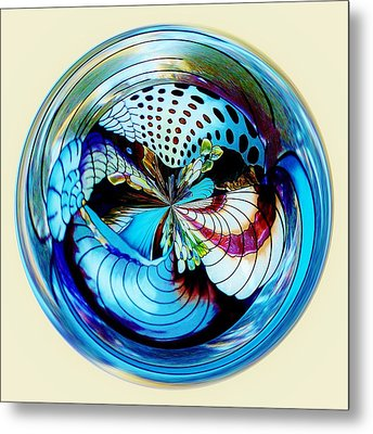 Sea Shell Orb Metal Print by Paulette Thomas