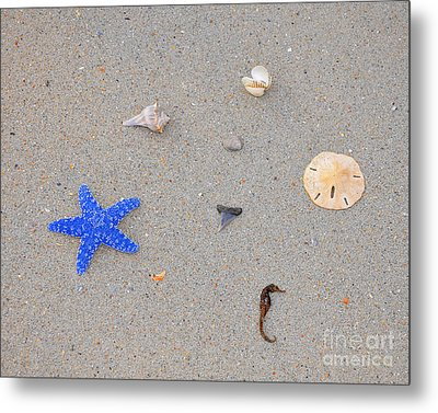 Sea Swag - Dark Blue Metal Print by Al Powell Photography USA
