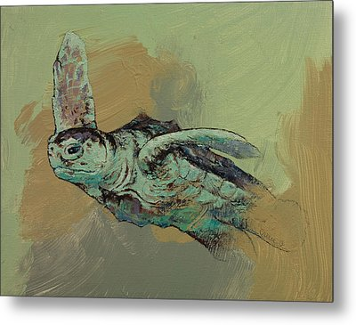 Sea Turtle Metal Print by Michael Creese