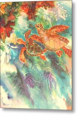 Sea Turtles Metal Print by Deborah Younglao