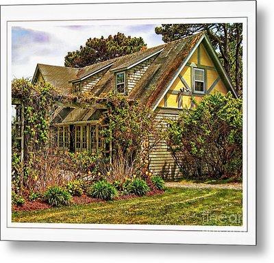 Seacoast Cottage Metal Print by Marcia Lee Jones