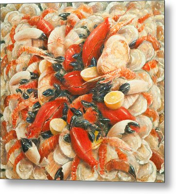 Seafood Extravaganza Metal Print by Lincoln Seligman