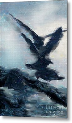 Seagull Grace Metal Print by Betty LaRue