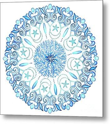 Seahorse Mandala Metal Print by Stephanie Troxell