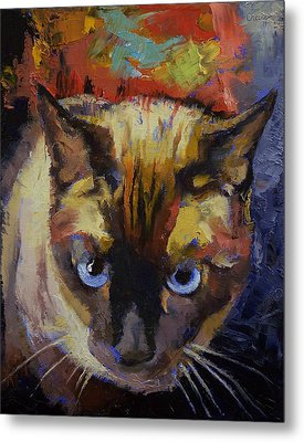 Seal Point Siamese Metal Print by Michael Creese