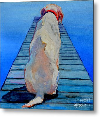 Seas Are Calm Metal Print by Molly Poole