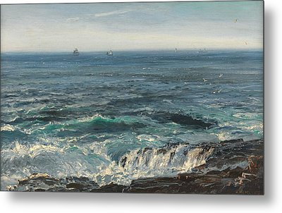 Seascape 1877 Metal Print by Henry Moore
