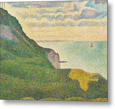 Seascape At Port En Bessin Normandy Metal Print by Georges Seurat
