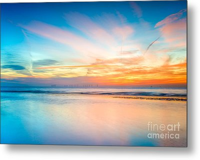 Seascape Sunset Metal Print by Adrian Evans