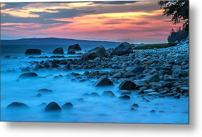 Seashore Sunset Metal Print by Pierre Leclerc Photography