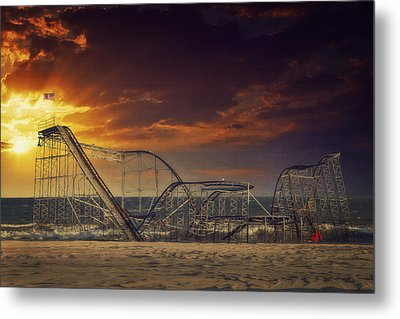 Seaside Coaster Metal Print by Kim Zier
