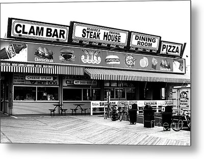 Seaside Dining Metal Print by John Rizzuto