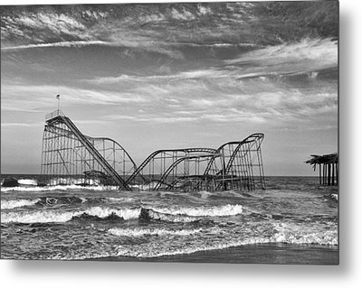 Seaside Heights - Jet Star Roller Coaster Metal Print by Niday Picture Library