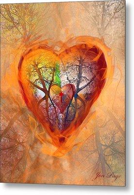 Season Of The Heart Metal Print by Jennifer Page