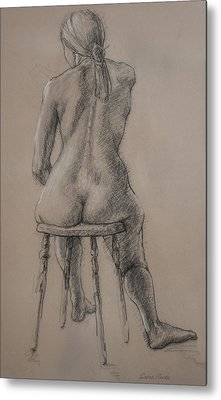 Seated Figure Metal Print by Sarah Parks