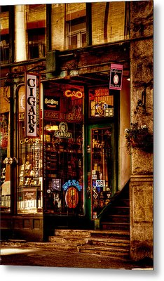 Seattle Cigar Shop Metal Print by David Patterson